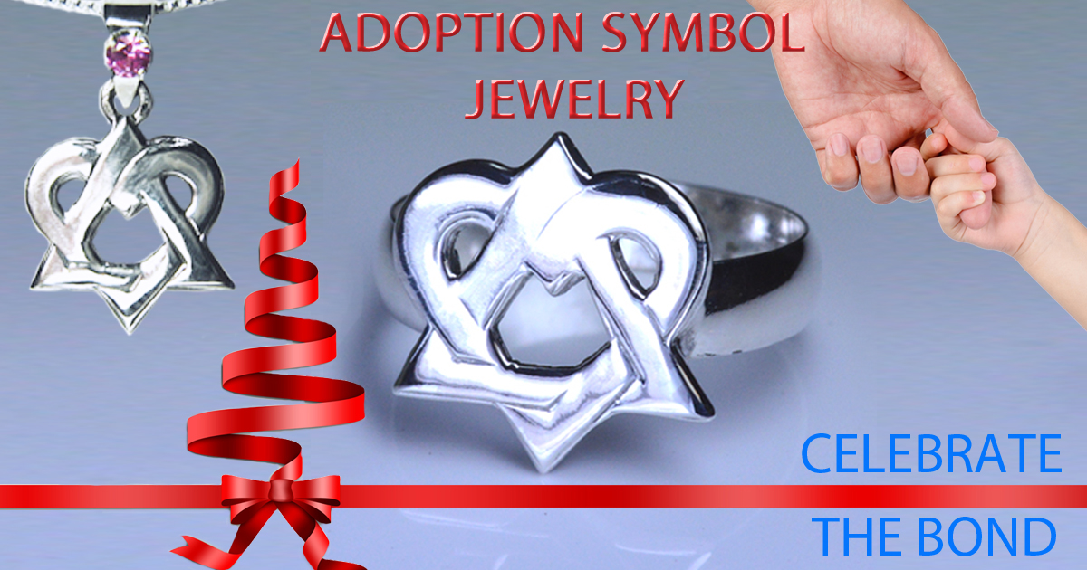 Handmade Sterling Silver Adoption Symbol Jewelry
