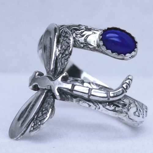 Sterling Silver Dragonfly Spoon Ring