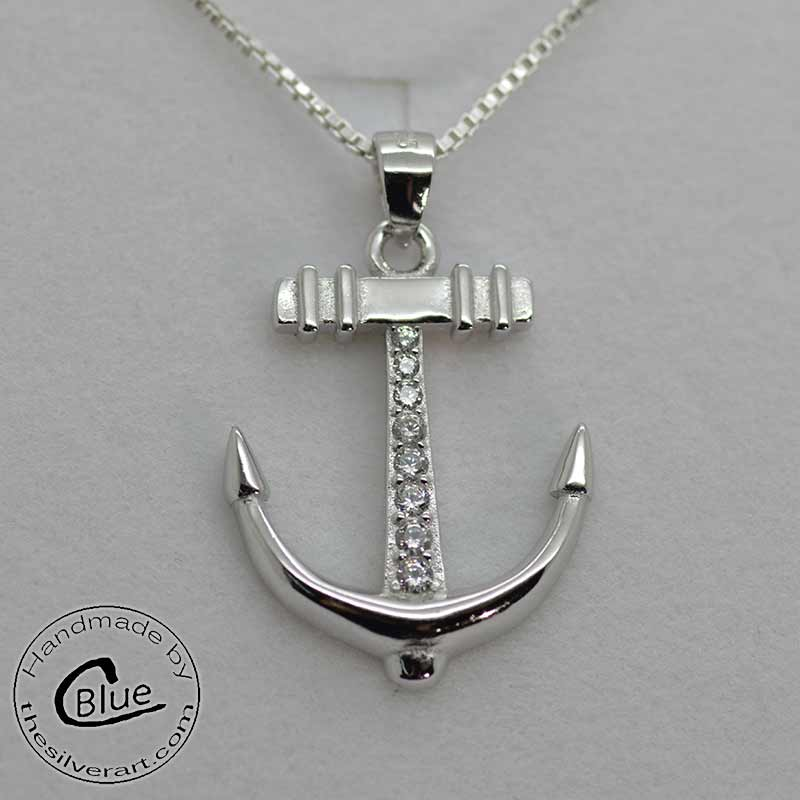 Sterling silver anchor pendant necklace anchor necklace sterling silver anchor pendant sterling silver anchor pendant aloadofball Images
