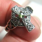 celtic cross peridot