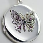 Handmade Sterling Silver Butterfly Locket