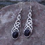Onyx Sterling Silver Celtic Knot Earrings