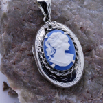 Handmade Sterling Silver Cameo Locket