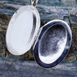 Handmade Sterling Silver Cameo Locket  inside