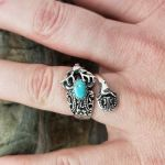 Deer Sterling Silver Adjustable Spoon Ring