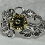 silver & Gold Rose Ring