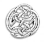sterling silver Round Celtic Knot Brooch Pin