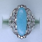 smithsonite filigree ring