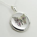 Sterling Silver Butterfly Locket