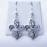 Fleur-de-Lis White Zircons earrings
