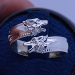 wolf spoon ring