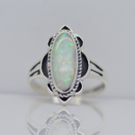 sterling silver 925 Fire Opal Gemstone women's Ring