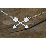 friendship crossed arrows symbol jewelry