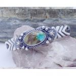 Sterling Silver Genuine Turquoise cuff bracelet