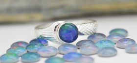Genuine Opal Triplet Mako Mermaid Ring