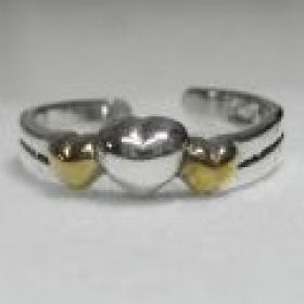 3 hearts toe ring