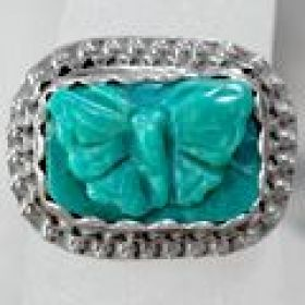 Butterfly in Turquoise ring