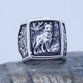 wolf sterling mens ring