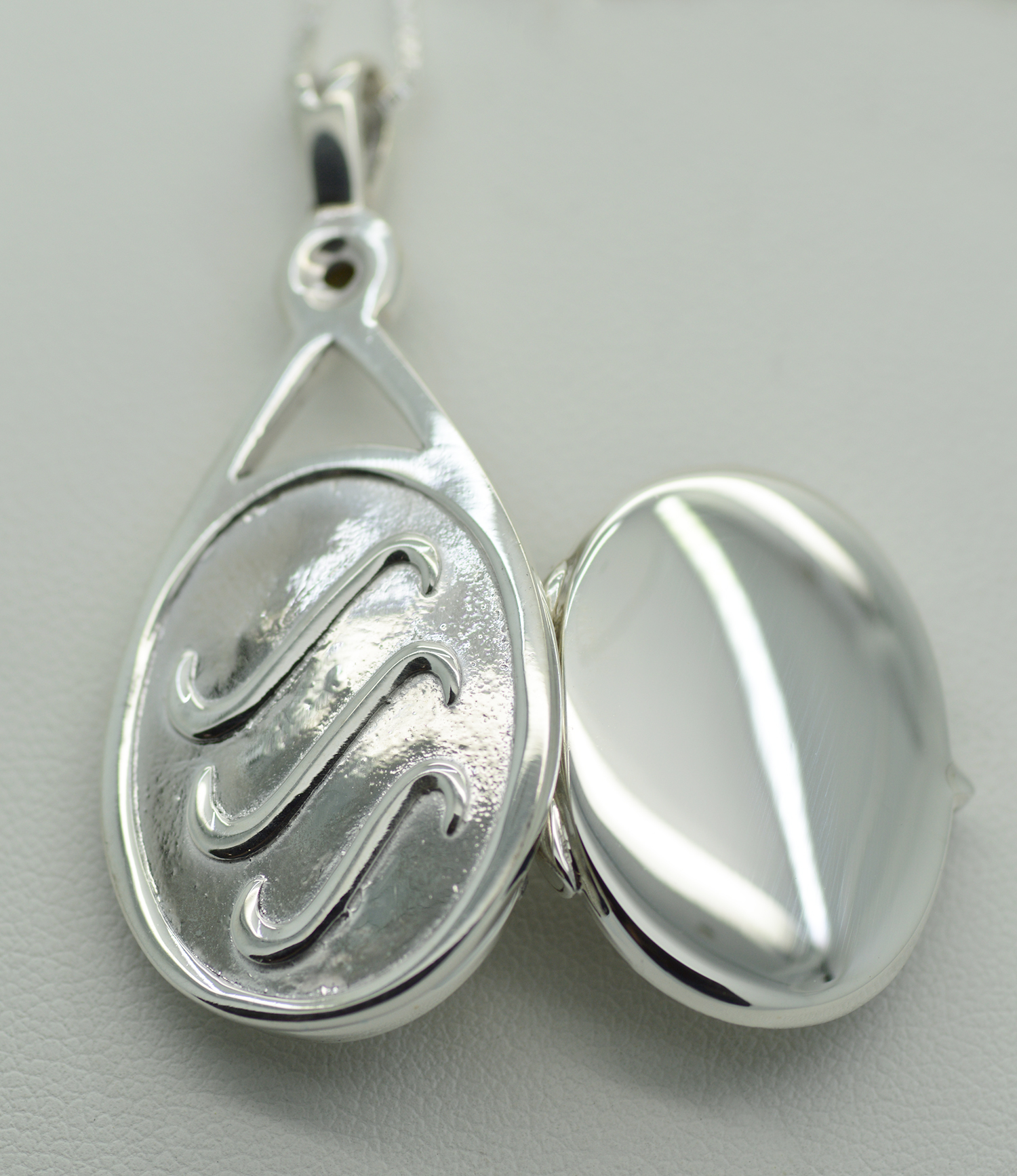 Water Cast Sterling Silver Sea Shell Necklace