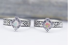 Sterling SIlver Celtic cross band Ring