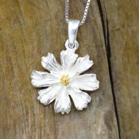 Daisy pendant Sterling Silver 925 and 18K Gold Center