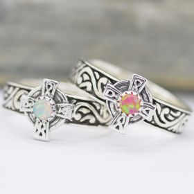 celtic sterling silver 925 band ring